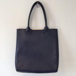 BCBGMaxAzria Purple Leather Handbag Tote